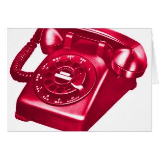レトロのヴィンテージの低俗な電話赤い電話 カード