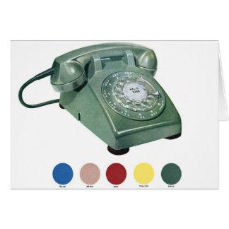 レトロのヴィンテージの低俗な電話電話モデル500 カード
