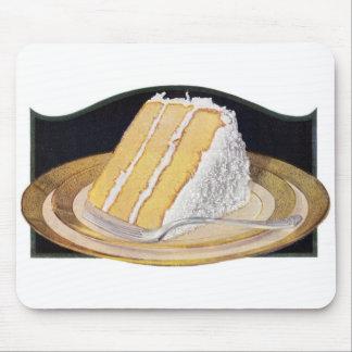 レトロのヴィンテージの低俗な食糧ココナッツクリームパイ マウスパッド