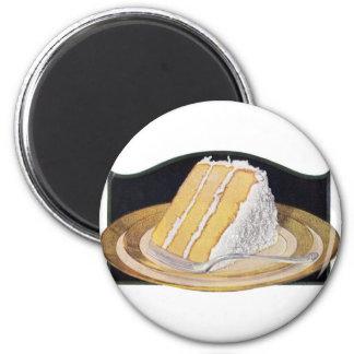 レトロのヴィンテージの低俗な食糧ココナッツクリームパイ マグネット