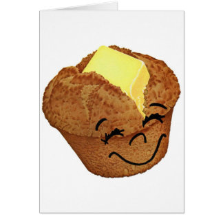 レトロのヴィンテージの低俗な食糧幸せなマフィン人 カード