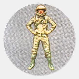 レトロのヴィンテージの低俗な60s宇宙の宇宙飛行士6'人 ラウンドシール