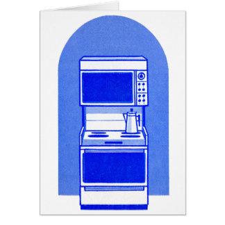 レトロのヴィンテージの低俗な60s電気器具のガス範囲のオーブン カード