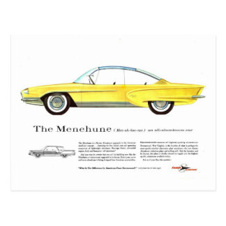 レトロのヴィンテージの低俗なKaiser Menehuneの概念車 ポストカード