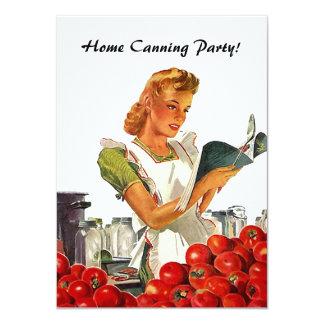 レトロのヴィンテージの台所家の缶詰になる招待状 11.4 X 15.9 インビテーションカード