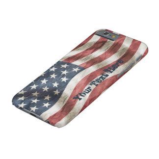 レトロのヴィンテージの名前入りな古い栄光米国の旗 iPhone 6 ベアリーゼアケース