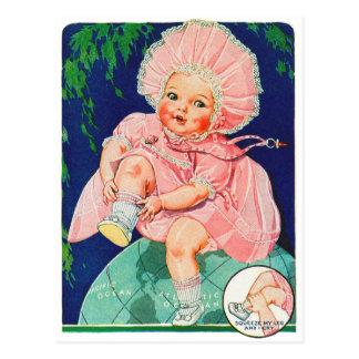 レトロのヴィンテージの大切な低俗な30sおもちゃの人形 ポストカード