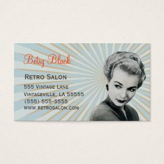 レトロのヴィンテージの日が差すことの美容師の名刺 名刺