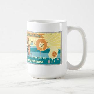 レトロのヴィンテージの朝食のコーヒースムージーのマグ コーヒーマグカップ