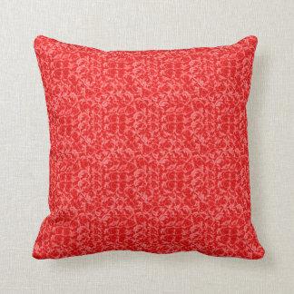 レトロのヴィンテージの渦巻のルビー色の赤 クッション
