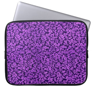 レトロのヴィンテージの紫色のいくじなしの女の子のガーリーなラップトップ ラップトップスリーブ