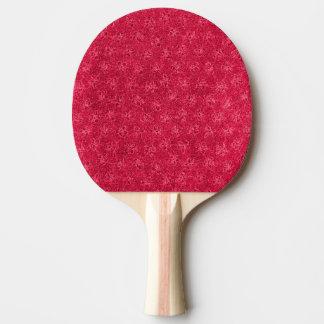 レトロのヴィンテージの花のルビー色のクランベリーの赤のバイオレット 卓球ラケット