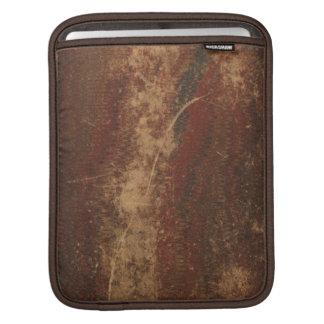 レトロのヴィンテージの表紙の質、荒く及び擦り切れた iPadスリーブ