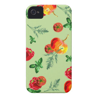 レトロのヴィンテージの野菜 Case-Mate iPhone 4 ケース