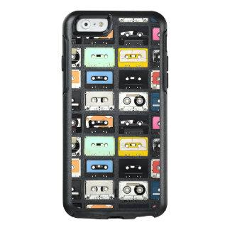 レトロのヴィンテージカセット組合せは芸術パターンを録音します オッターボックスiPhone 6/6Sケース