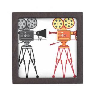 レトロのヴィンテージビデオプロジェクターカメラ映画ベクトル ギフトボックス