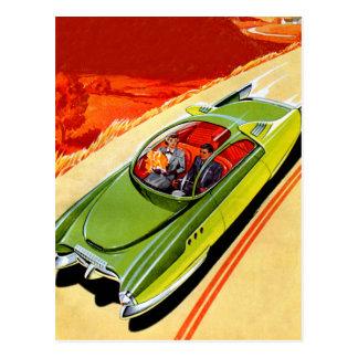 レトロのヴィンテージ低俗な車のKaiser Frasierの概念 ポストカード