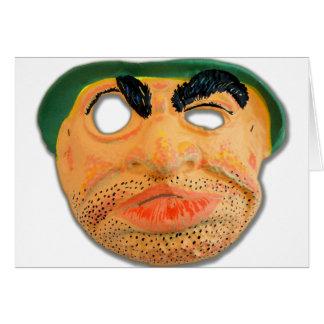 レトロのヴィンテージ低俗な60sはハロウィンの醜いマスクをからかいます カード
