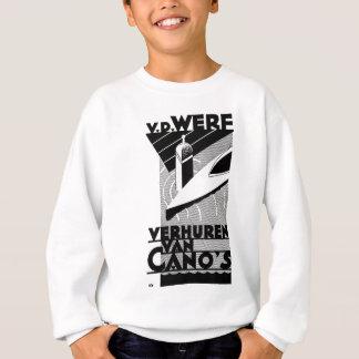 レトロのヴィンテージ広告- Werfのカヌーのレンタル スウェットシャツ