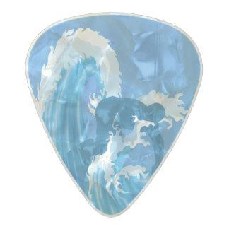 レトロの一見のサーファー パールセルロイド ギターピック
