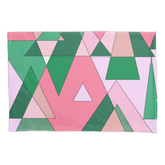 レトロの三角形の抽象芸術 枕カバー