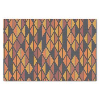 レトロの三角形の芸術パターン 薄葉紙