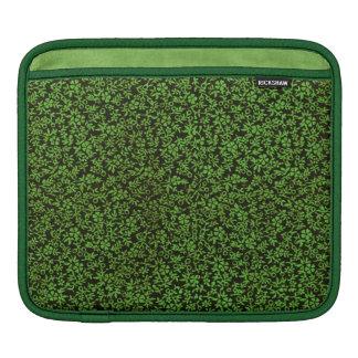 レトロの上品で粋ないくじなしのヴィンテージの花の緑 iPadスリーブ