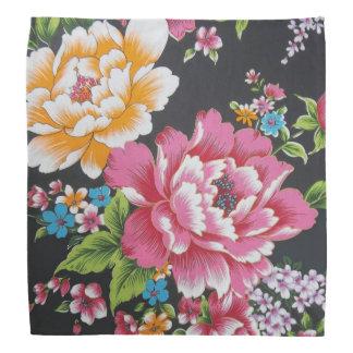レトロの中国のな客家の伝統的な花パターン バンダナ