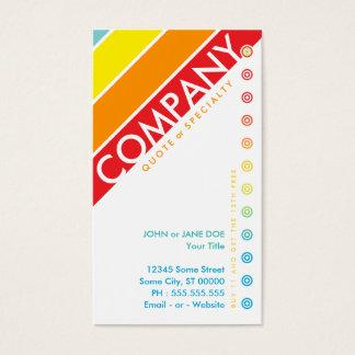 レトロの中心点のパンチカード(買物11は1つを自由得ます) 名刺