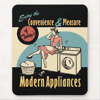 レトロの主婦の洗濯機のドライヤー マウスパッド