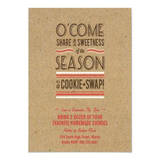 レトロの休日のクッキーの交換交換招待状 カード