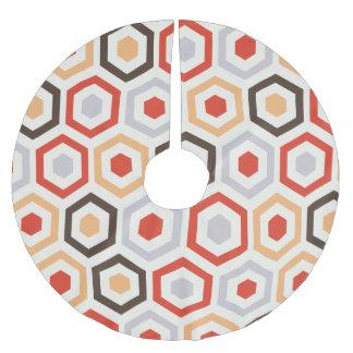 レトロの六角形 ブラッシュドポリエステルツリースカート