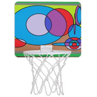 レトロの円の抽象芸術 ミニバスケットボールゴール