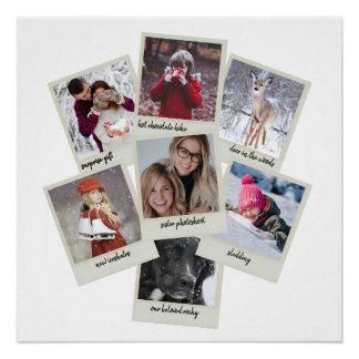 レトロの写真のコラージュ ポスター