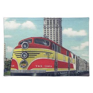 レトロの列車チャンピオンのマイアミの鉄道 ランチョンマット
