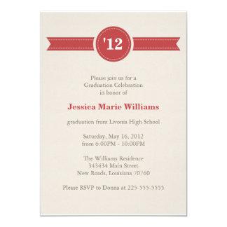 レトロの卒業パーティー 12.7 X 17.8 インビテーションカード