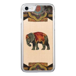 レトロの反逆のサーカス象木 CARVED iPhone 8/7 ケース