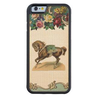 レトロの反逆の意気揚々と歩くサーカスの馬のiPhone 6のバンパー CarvedメープルiPhone 6バンパーケース