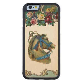 レトロの反逆の白いサーカスの馬のiPhone 6のバンパー CarvedメープルiPhone 6バンパーケース