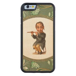 レトロの反逆者フルートプレーヤーのiPhone 6のバンパー木 CarvedメープルiPhone 6バンパーケース