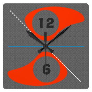 レトロの台所時計 スクエア壁時計