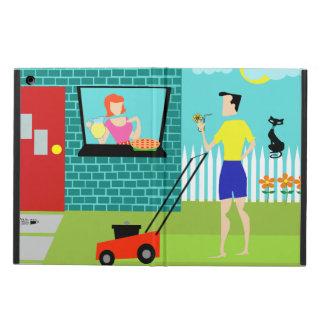 レトロの土曜日の朝のiPadの空気箱 iPad Airケース