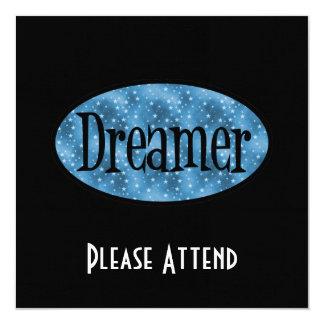 レトロの夢みる人の星のロゴ-青 カード