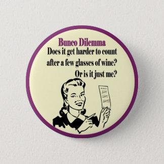 レトロの女性とのBuncoのおもしろいなジレンマ 缶バッジ