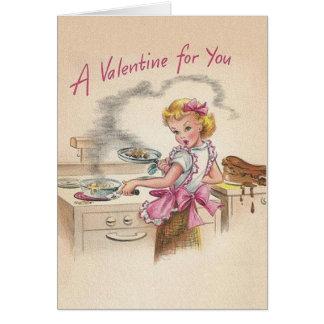 レトロの妻のバレンタインデーカード カード