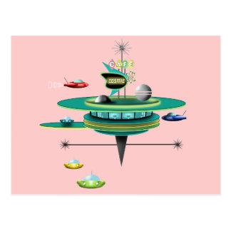 レトロの宇宙のダイナー ポストカード