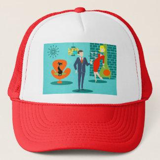 レトロの宇宙時代の漫画のカップルのトラック運転手の帽子 キャップ