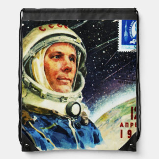 レトロの宇宙時代の60年代の宇宙飛行士 ナップサック