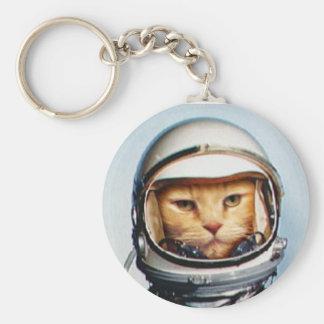 レトロの宇宙飛行士猫 キーホルダー