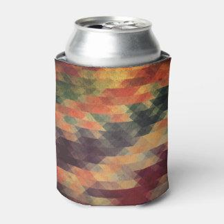 レトロの幾何学的ではっきりしたなストライプの擦り切れたな色 缶クーラー